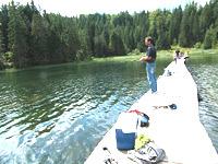 Fischen am Steg